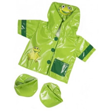 Green Frog Ribbit Raincoat and Boots - 3pc