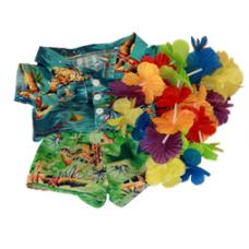 Hawaiian Shirt, Shorts  & Lei - 3pc