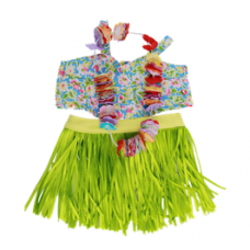 Hawaiian Top, Grass Skirt & Lei - 3pc