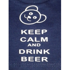 Keep Calm and Drink Beer T-Shirt - Navy