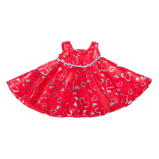 Red Silver Hearts Dress